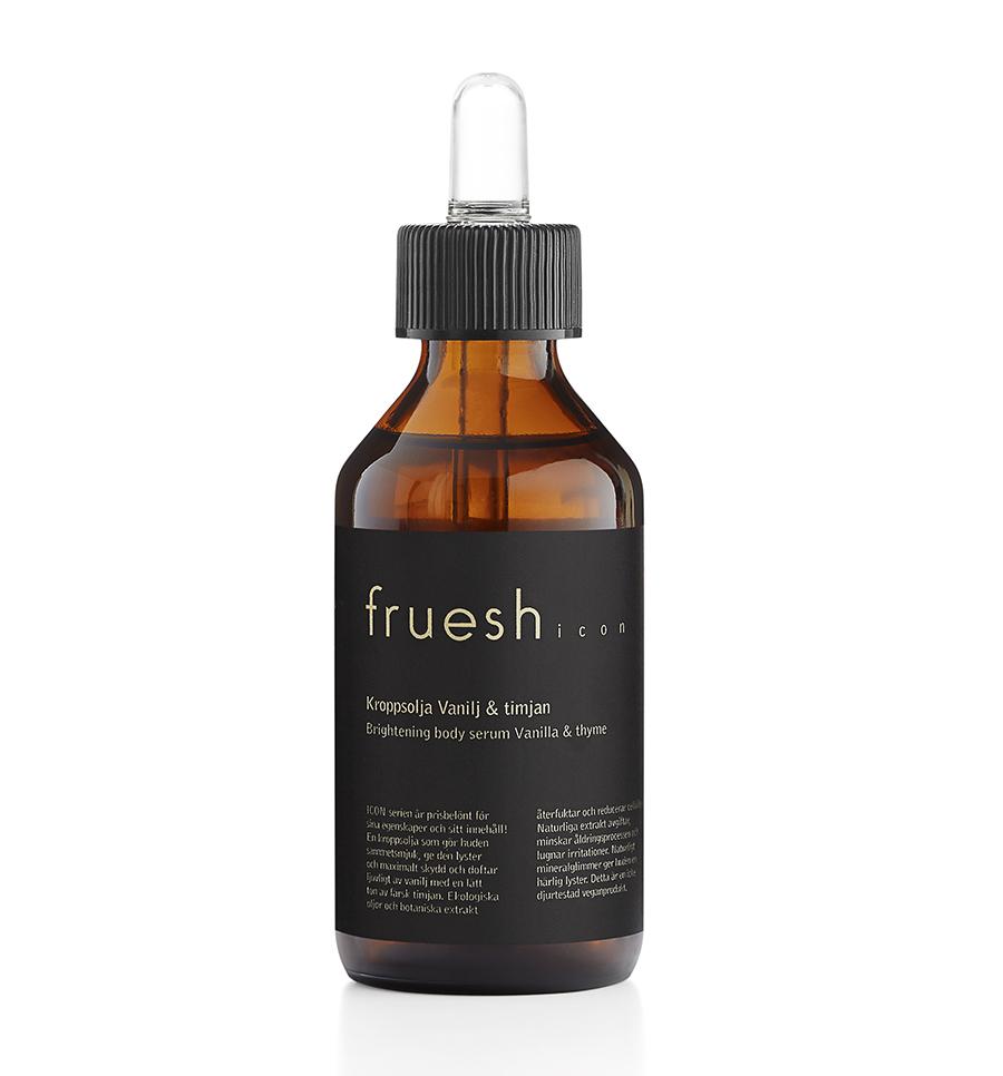 Kroppsolja Vanilj & timjan från Fruesh Cosmetics
